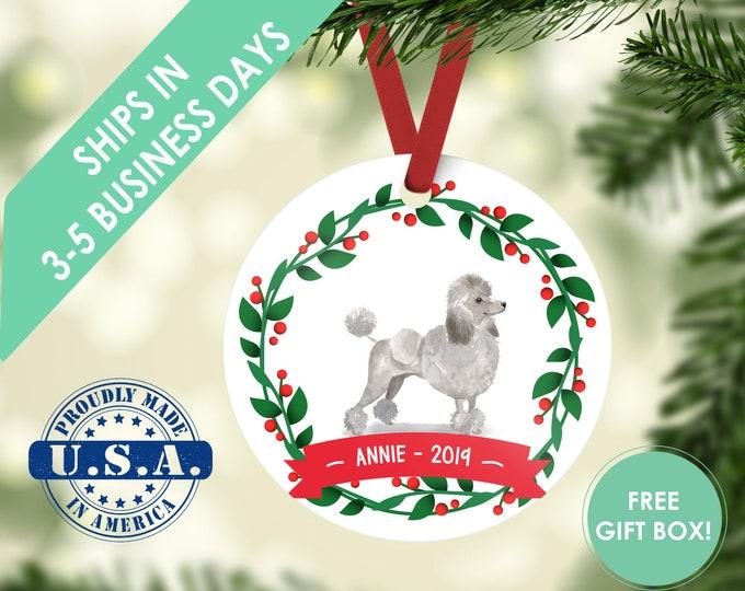 standard poodle ornament Dog ornament pet ornament custom dog ornament personalized dog dog lover gift dog christmas ornament mini poodle