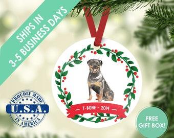 Rottweiler ornament Dog ornament pet ornament custom dog ornament personalized dog dog lover gift dog christmas ornament Rottweiler