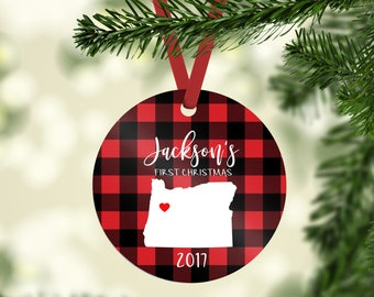 baby's first christmas ornament / christmas ornament / first christmas / baby ornament / baby state ornament / birth ornament / birth state