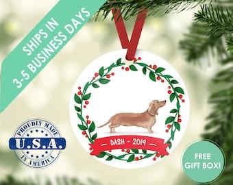 dachshund ornament, Dog ornament, pet ornament, custom dog ornament, personalized dog dog lover gift, dog christmas ornament weiner dog