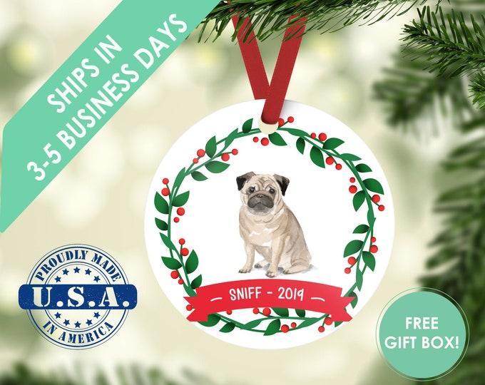 pug ornament Dog ornament pet ornament custom dog ornament personalized dog dog lover gift dog christmas ornament pug pug gift pug customize