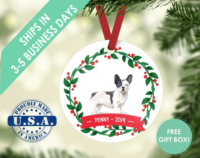french bulldog / Dog ornament / Christmas ornament / Bulldog ornament / Frenchie ornament / Frenchie / French bulldog/ French bulldog gift