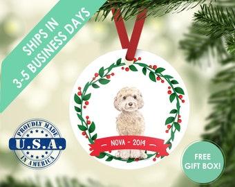 Doodle Ornament, Dog ornament, pet ornament, custom dog ornament, personalized dog dog lover gift, dog christmas ornament, Goldendoodle dood