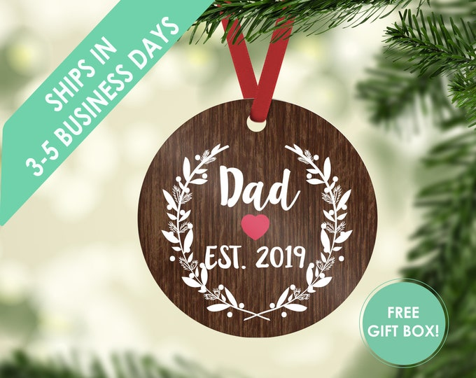 Christmas ornament / dad ornament / ornament / personalized / custom ornament / gift for dad / Christmas gift / new dad ornament / new dad