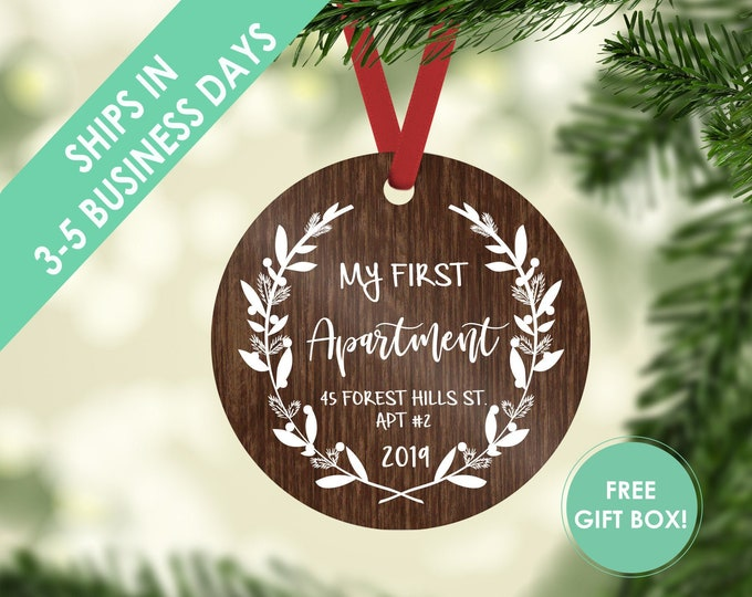 first apartment ornament / housewarming gift / Christmas ornament / new home ornament / my first home / first home / custom ornament