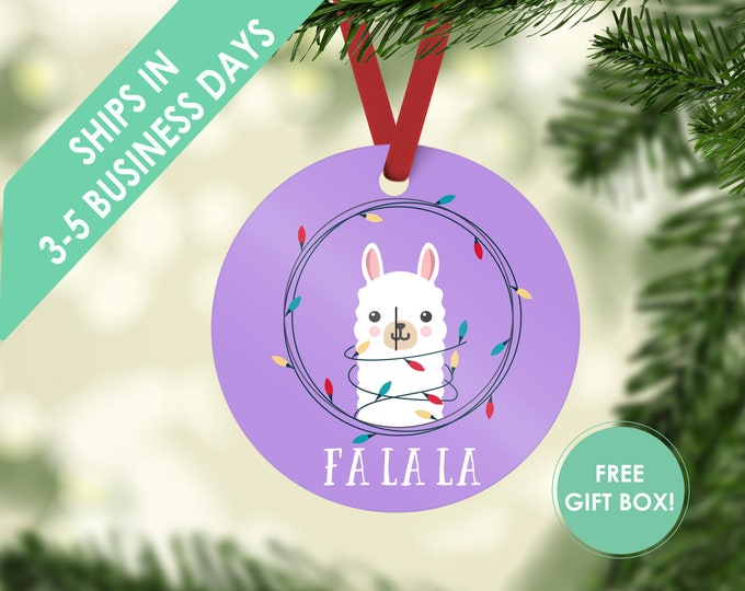 Ready to Ship - Fa La La Llama Christmas Ornaments - Llama Ornaments for Children - Llama Gift - Christmas Gift Llama - Llama Tree Ornaments