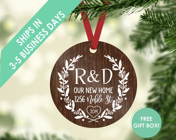 new home ornament / housewarming gift / Christmas ornament / new home ornament / our new home / new home / custom ornament / new home