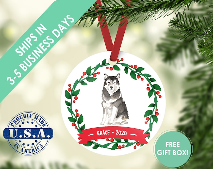 alaskan malamute ornament Dog ornament pet ornament custom dog ornament personalized dog dog lover gift dog christmas ornament malamute dog