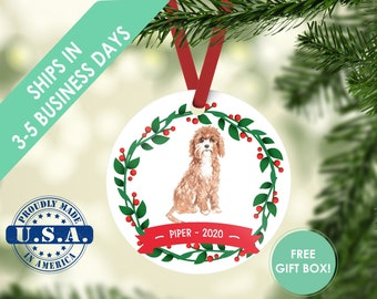 Cavapoo ornament Dog ornament pet ornament custom dog ornament personalized dog dog lover gift dog christmas ornament cavapoo gift poodle