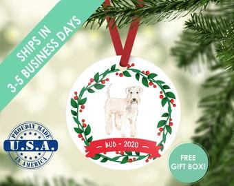 Wheaten Terrier ornament Dog ornament pet ornament custom dog ornament personalize dog dog lover gift dog christmas ornament wheaten