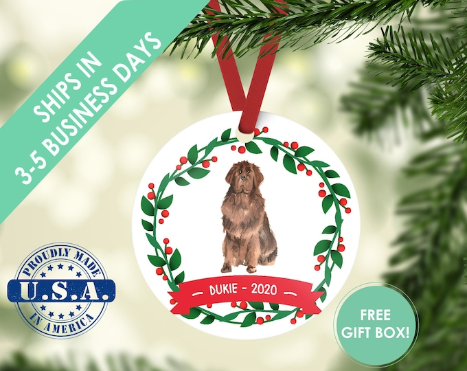 Newfoundland ornament Dog ornament pet ornament custom dog ornament personalized dog dog lover gift dog christmas ornament Newfoundland dog