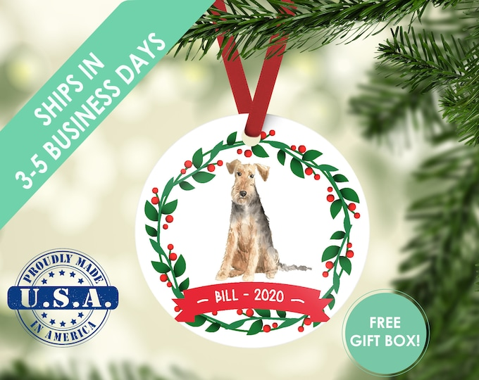 Welsh Terrier ornament Dog ornament pet ornament custom dog ornament personalized dog dog lover gift dog christmas ornament terrier ornament