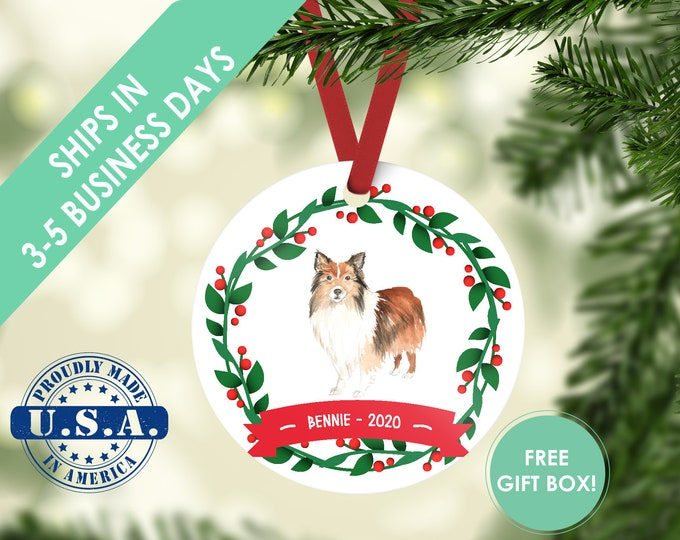 Sheltie ornament Dog ornament pet ornament custom dog ornament personalized dog dog lover gift dog christmas ornament shetland sheepdog