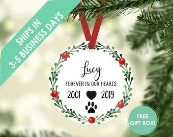Pet Memorial Ornament Pet Memorial Gifts Dog Memorial Gift Dog Memorial Ornament Dog Memory Christmas Ornament Pet Loss Gifts Custom Years