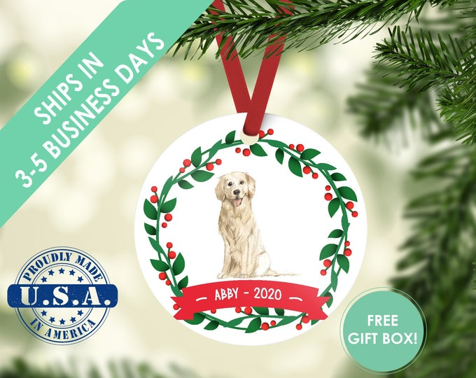 golden retriever ornament Dog ornament pet ornament custom dog ornament personalized dog dog lover gift dog christmas ornament retriever