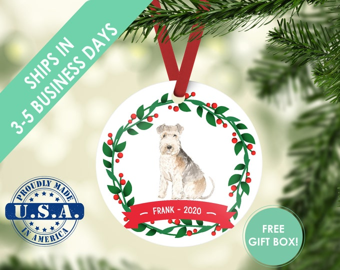 Lakeland terrier ornament Dog ornament pet ornament custom dog ornament personalized dog dog lover gift dog christmas ornament terrier gift