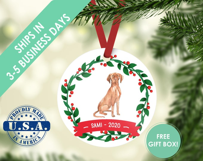 Hungarian Vizsla ornament Dog ornament pet ornament custom dog ornament personalized dog dog lover gift dog christmas ornament vizsla dog