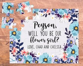 flower girl puzzle / flower girl gift / will you be my / flower girl / flower girl proposal / puzzle / flower girl card / be my flower girl