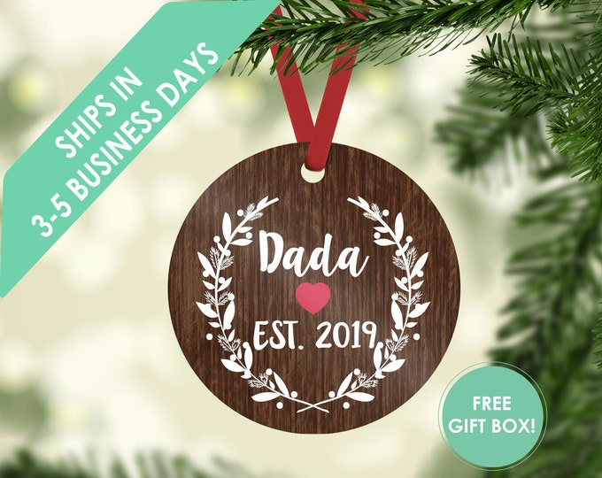 Christmas ornament / dada ornament / ornament / personalized / custom ornament / gift for dad / Christmas gift / new dad ornament / new dad