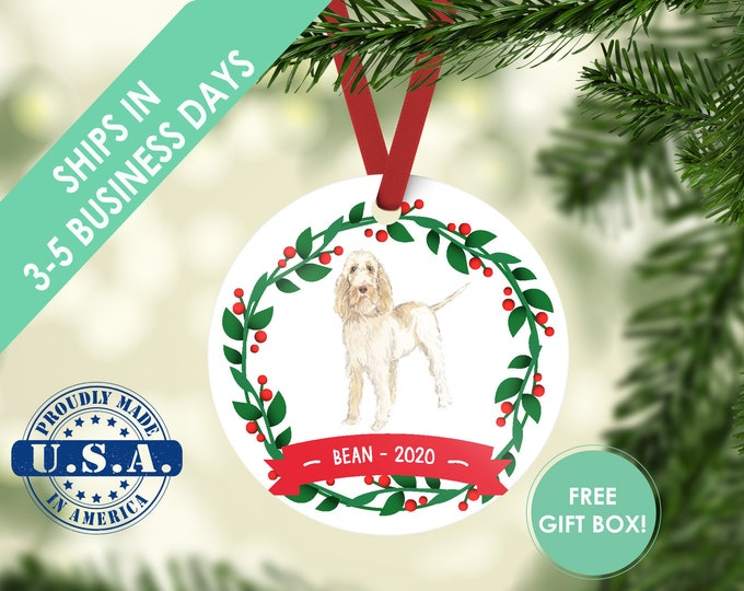 Spinone Italiano ornament Dog ornament pet ornament custom dog ornament personalized dog dog lover gift dog christmas ornament spinone dog