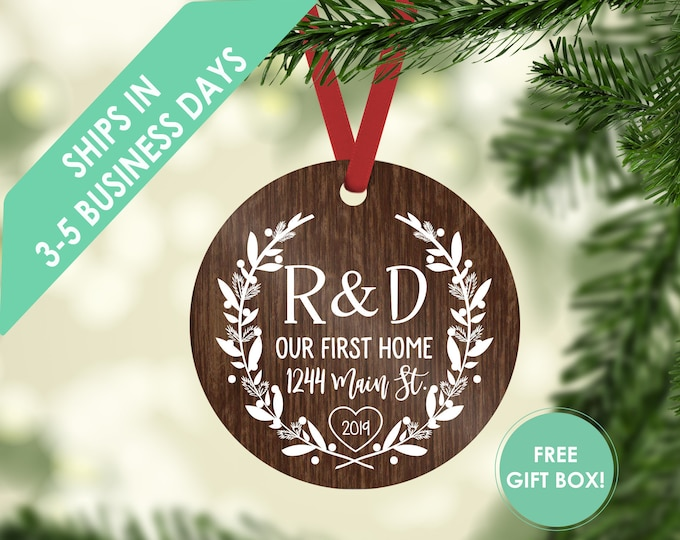 first home ornament / housewarming gift / Christmas ornament / new home ornament / our first home / first home / custom ornament / new home