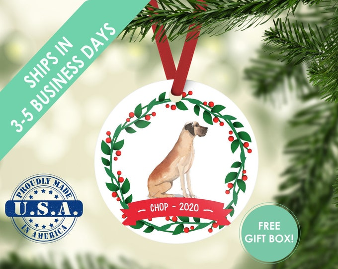 great dane ornament Dog ornament pet ornament custom dog ornament personalized dog dog lover gift dog christmas ornament Great Dane dog