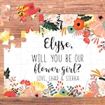 flower girl puzzle / flower girl gift / will you be my / flower girl / flower girl proposal / puzzle / flower girl card / be my flower girl