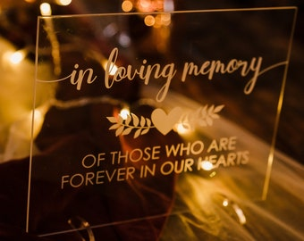 READY TO SHIP We Know you Would be Here Today, If Heaven Wasn't so Far Away  Wedding Memorial Sign -Remembrance Table Sign In Loving Memory