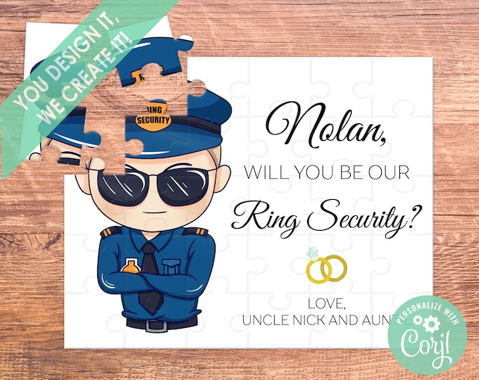 ring security puzzle / ring bearer puzzle / ring bearer / ring bearer gift / ring bearer proposal / ask ring bearer / ring bearer card