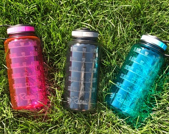 wide mouth water bottle / water tracker / time / personalized / water / water intake / custom / time tracker / sports bottle / gym