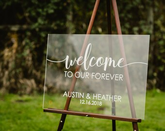 welcome wedding sign acrylic Personalized Modern Wedding Welcome Sign Decoration for Display  Custom Wedding Sign wedding table decorations