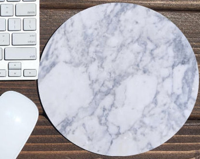 marble mouse pad / mouse pad / mousepad / mouse mat / marble / marble mousepad / round mouse pad / desk accessories / custom mouse pad
