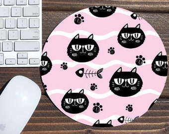 mouse pad / mousepad / cat mouse pad / cat / mouse mat / office decor / cat mousepad / custom mouse pad / desk accessories / custom mousepad