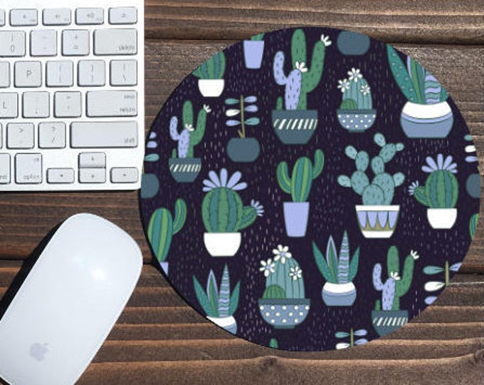 mouse pad / mousepad / cactus mouse pad / cactus mousepad / cactus / office decor / mouse mat / desk accessories / succulent mouse pad
