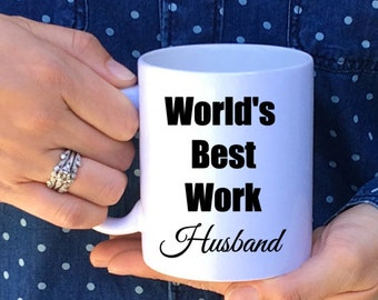 World's Best Work Husband Mug // Work Husband Gift // Work Wife // Work Husband // Work Spouse // Work Marriage Mug // Valentin'e Day Gift
