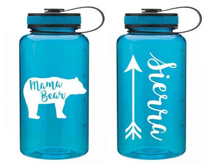 Mama Bear Water Bottle // Mama Bear // Mama Bear Bottle // Tribal Water Bottle // New Mom Gift // gift for mom // Mama Bear Cup // Papa bear
