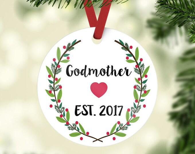 godmother ornament / godmother gift / Christmas ornament / godmother / gift for godmother / baptism gift / godparents / Christmas gift