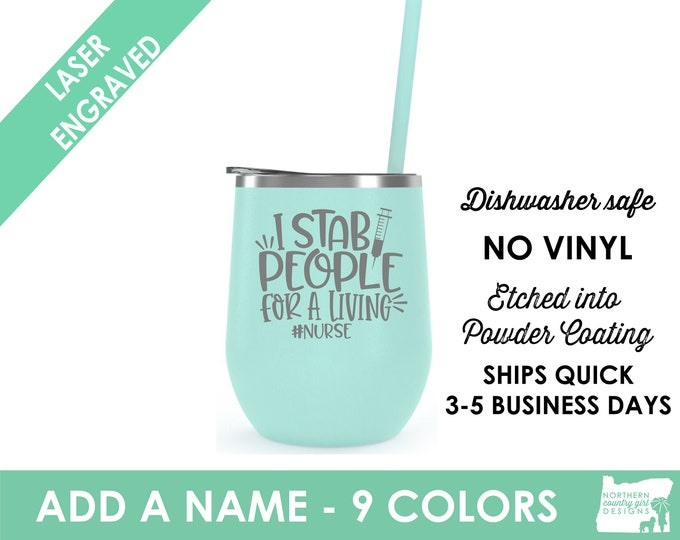nurse tumbler nurse gift nurse graduation gift nurse wine nurse appreciation nurse personalized tumbler nurse cup rn tumbler gift for nurse