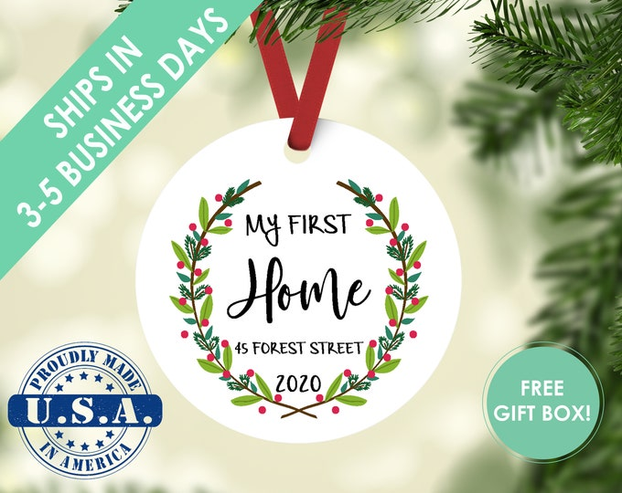first home ornament / housewarming gift / Christmas ornament / new home ornament / my first home / first home / custom ornament / new home