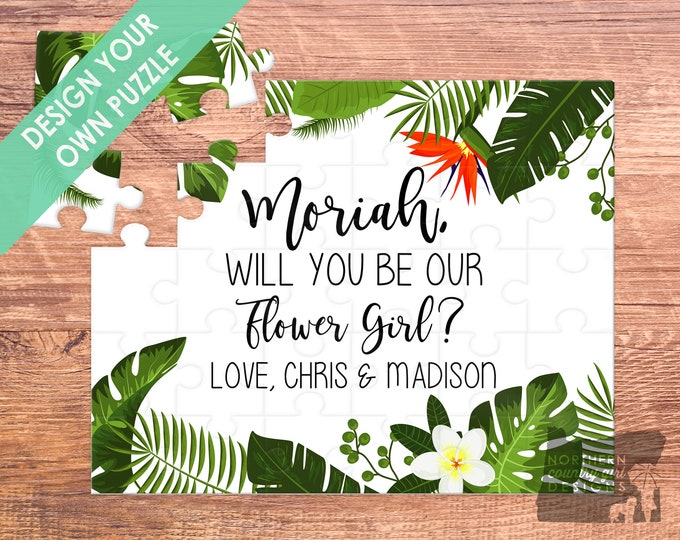 flower girl puzzle, flower girl, flower girl gift, will you be my, flower girl proposal, puzzle, be my flower girl, flower girl card