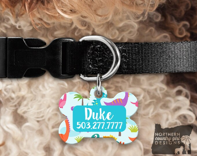 Custom Dog Tag for Dogs Dog ID Tags Personalized Pet Dinosaur Pet Tag Pet Tags Pet ID Tag Pet id Tags for Dog Tag ID Dog Tag Dog Tags