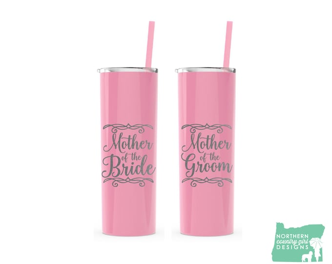 Mother of the Bride Tumbler, Mother of the Groom Tumbler, Parents of the Bride, Mother of the Bride Gift, Mother of the Groom Gift, Set of 2