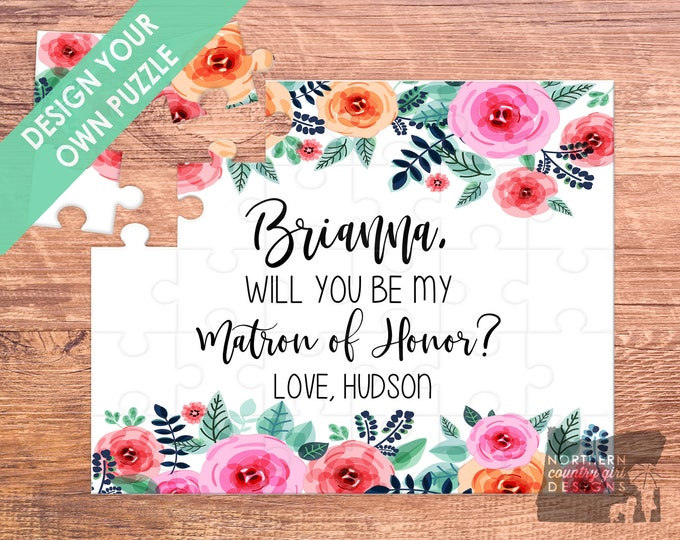 matron of honor / will you be my / bridesmaid proposal /  bridesmaid / puzzle / bridesmaid puzzle / maid of honor gift / be my bridesmaid
