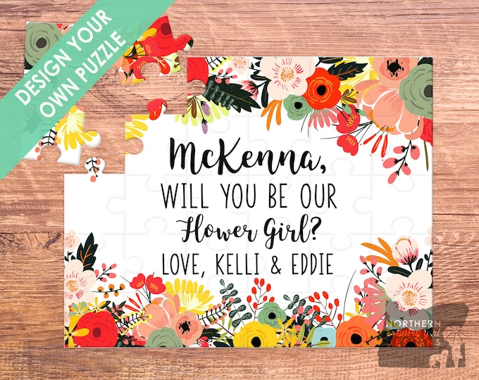 flower girl puzzle / flower girl gift / will you be my / flower girl / flower girl proposal / name puzzle / puzzle ring / be my flower girl