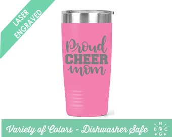 Proud Cheer Mom Tumbler / Cheer Mom / Cheerleader Tumbler / Cheerleader Mom Tumbler / Cheerleader Mom / Custom Tumbler / Cheerleader