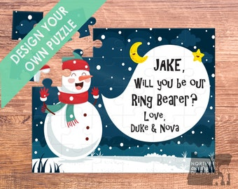 ring security puzzle / ring bearer puzzle / ring bearer / ring bearer gift / ring bearer proposal / ring bearer card / christmas ring bearer
