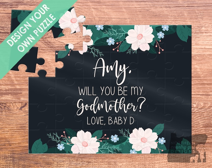 godmother / puzzle / baptism / be my godmother / godmother puzzle / asking godmother / godmother proposal / godmother gift / godmother card