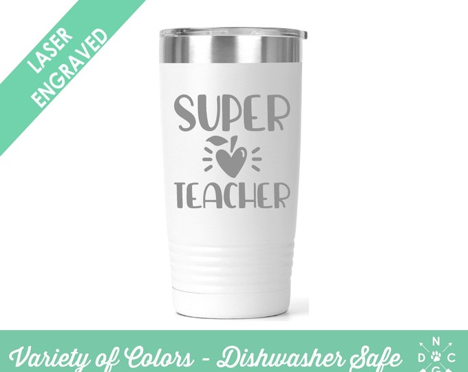 Super Teacher / Teacher Coffee Cup / Gift for teacher / teacher retirement gift / teacher appreciation / Custom Coffee Mug