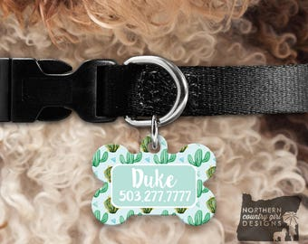 Custom Dog Tag for Dogs Dog ID Tags Personalized Pet cactus Pet Tag Pet Tags Pet ID Tag Pet id Tags for Dog Tag ID Dog Tag Dog Tags