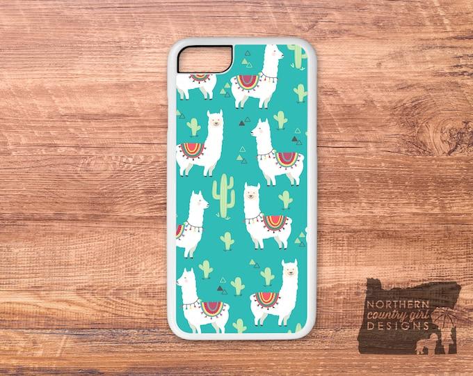 llama phone case / llama / alpaca iPhone case / llama case / alpaca / iPhone 8 plus case / iPhone X / iPhone 8 case / llama cactus  / cactus